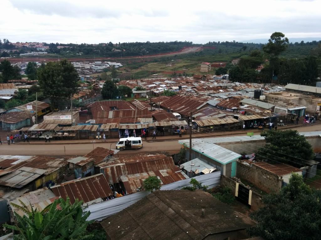 More than 800,000 people call Kibera their home. The largest slum in Kenya borders Nairobi.