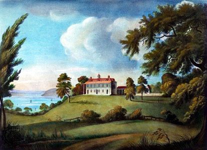 Mount Vernon, by Francis Jukes, 1800. Photo from Wikimedia Commons