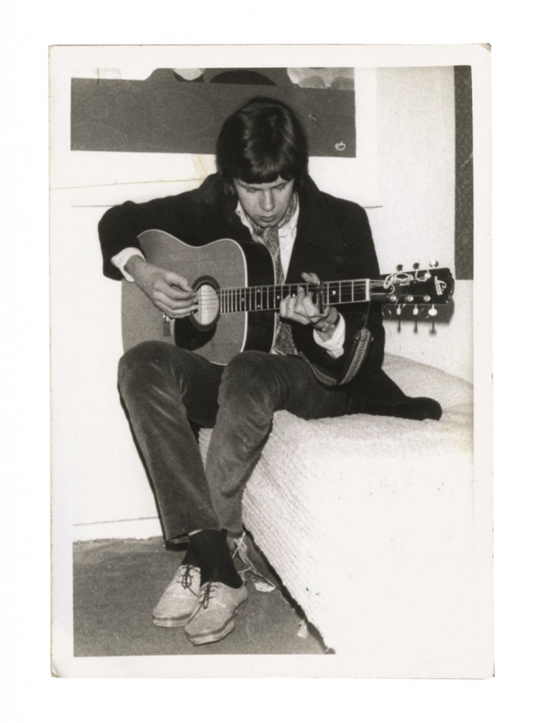 Nick in France playing the Swedish-built Levin Guitar.