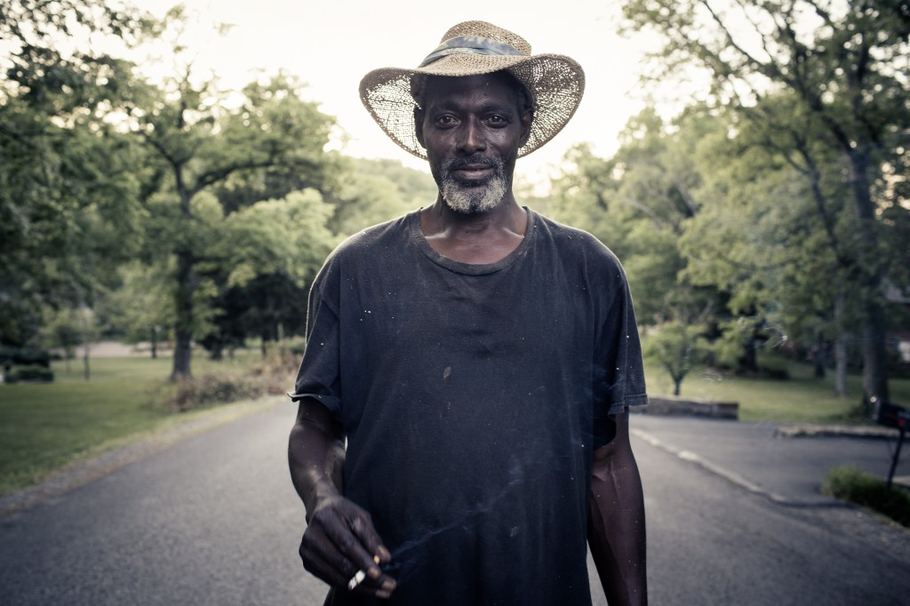 "A lawn care worker named Mo was the first portrait that Reynolds took in her Southern Route series. When she saw him in Nashville, she described him as ""debonaire"" and ""very classic"" and said these traits made him stand out to her. After taking his photo, she wanted to use her camera to capture similar moments in the South. Photo courtesy of Tamara Reynolds."