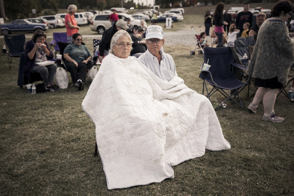 Reynolds' Southern Route series reveals her eye for finding simple, honest moments, even in photos of a couple staying warm under a white blanket while enjoying a harmonica festival in Fairview, Tennessee.  This photo will be one of a handful of hers on exhibit at the Ogden Museum of Southern Art in New Orleans starting on Dec. 5.  Photo courtesy of Tamara Reynolds