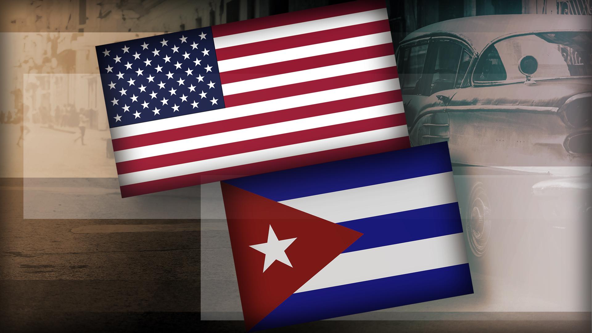 US CUBA FLAGS monitor