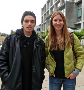 Life Academy student Alejandro Aguilera, left, with his teacher Annie Hatch. Aguilera was killed in a drive-by shooting in Oakland, California, in 2012. Photo courtesy of Annie Hatch