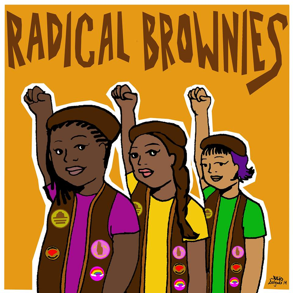 Radical Brownies, illustrated. Image by Julio Salgado.