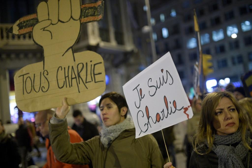 SPAIN-FRANCE-ATTACKS-CHARLIE-HEBDO