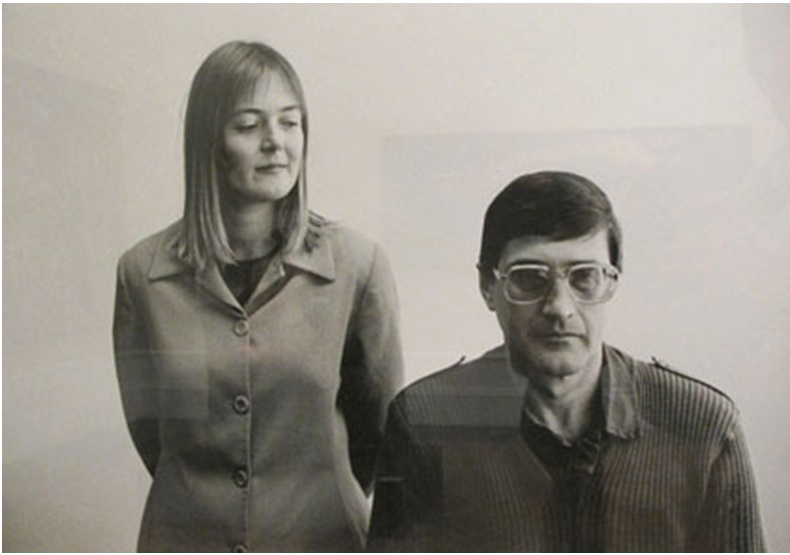 Jann Turner with Eugene de Kock at the Truth and Reconciliation Commission Headquarters in 1997. Photo by George Hallett