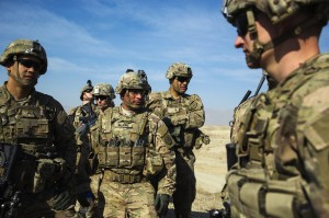 This 2015 file photo shows U.S. soldiers from Dragon Troop of the 3rd Cavalry Regiment discuss their mission during their first training exercise of the new year near operating base Gamberi in the Laghman province of Afghanistan. Photo by REUTERS/Lucas Jackson.