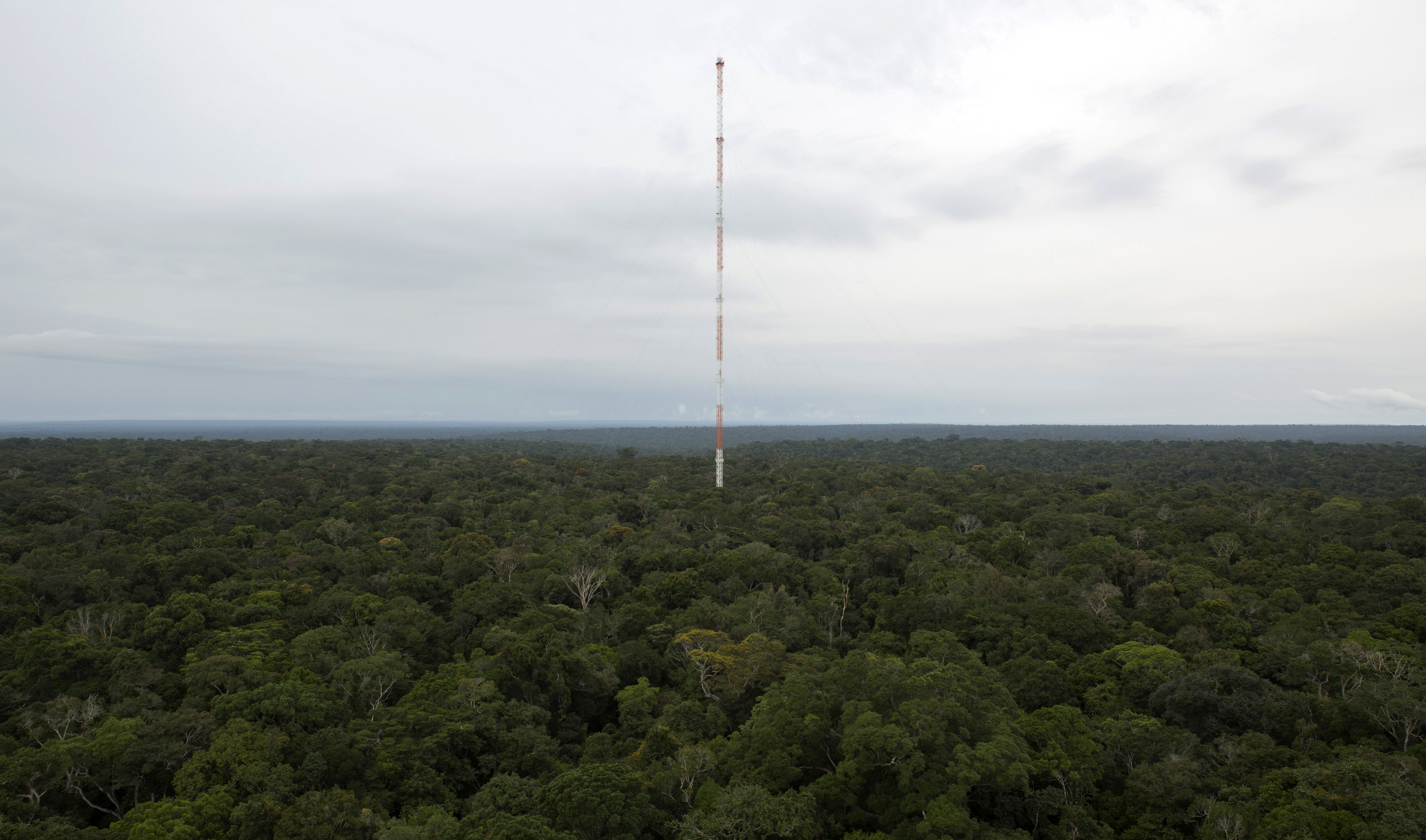 The Amazon Tall Tower Observatory (ATTO) is pictured in Sao Sebastiao do Uatuma in the middle of the Amazon forest in Amazonas state January 9, 2015. Photo by Bruno Kelly/Reuters