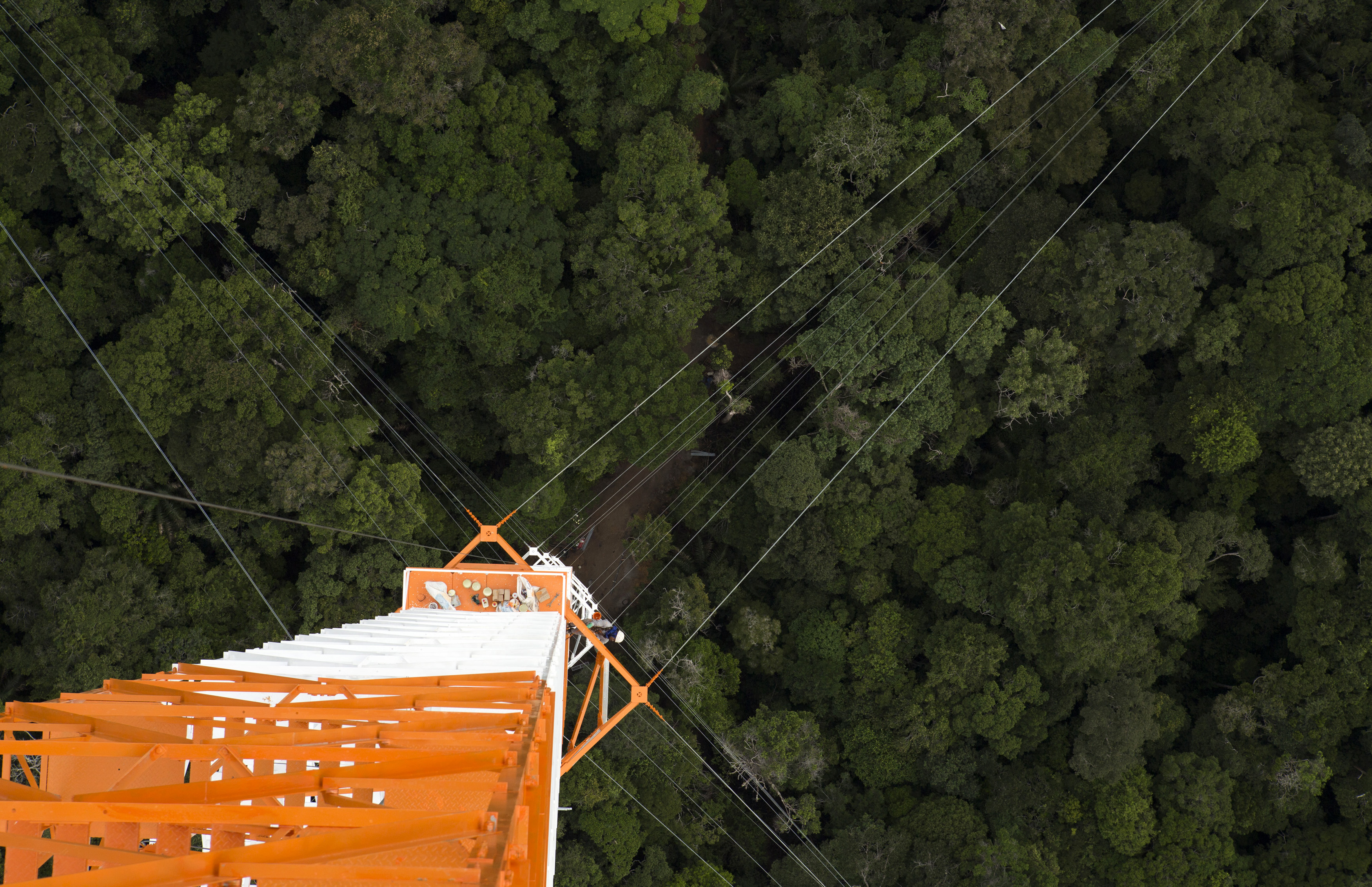 The Amazon Tall Tower Observatory (ATTO) is pictured in Sao Sebastiao do Uatuma in the middle of the Amazon forest in Amazonas state January 10, 2015. Photo by Bruno Kelly/Reuters