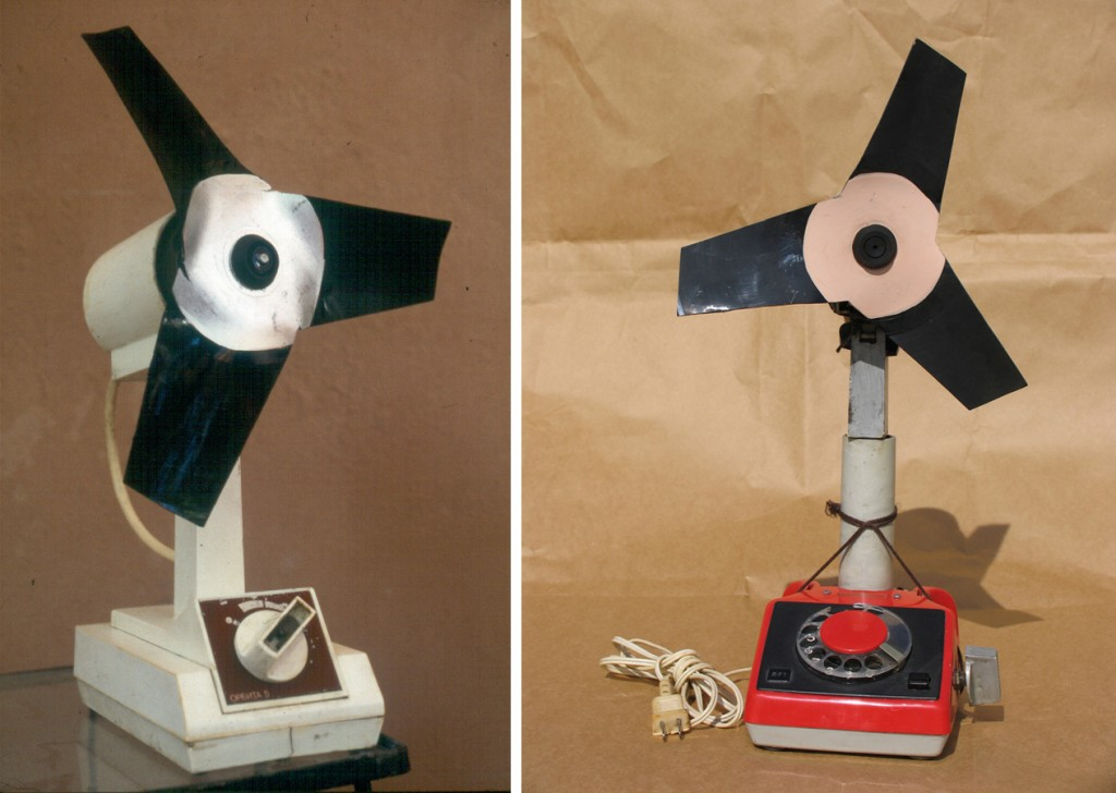 House fans built from parts from widely-owned Soviet appliances. Photos by  Ernesto Oroza