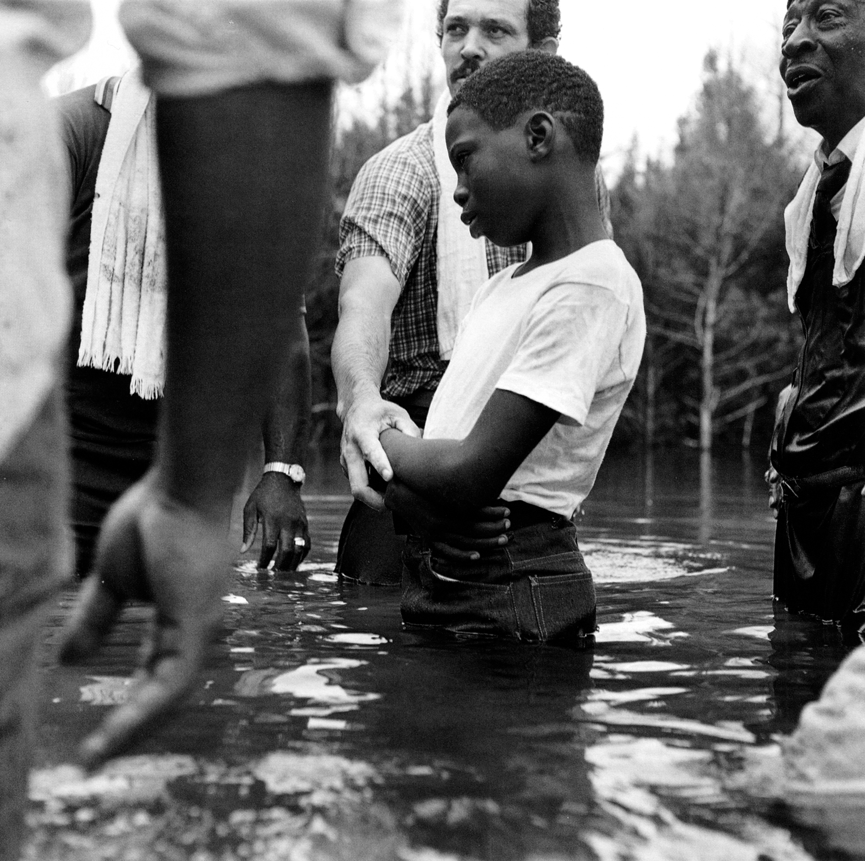 Oakland Baptism, Crawford, Mississippi, 1979. Photo by Birney Imes.