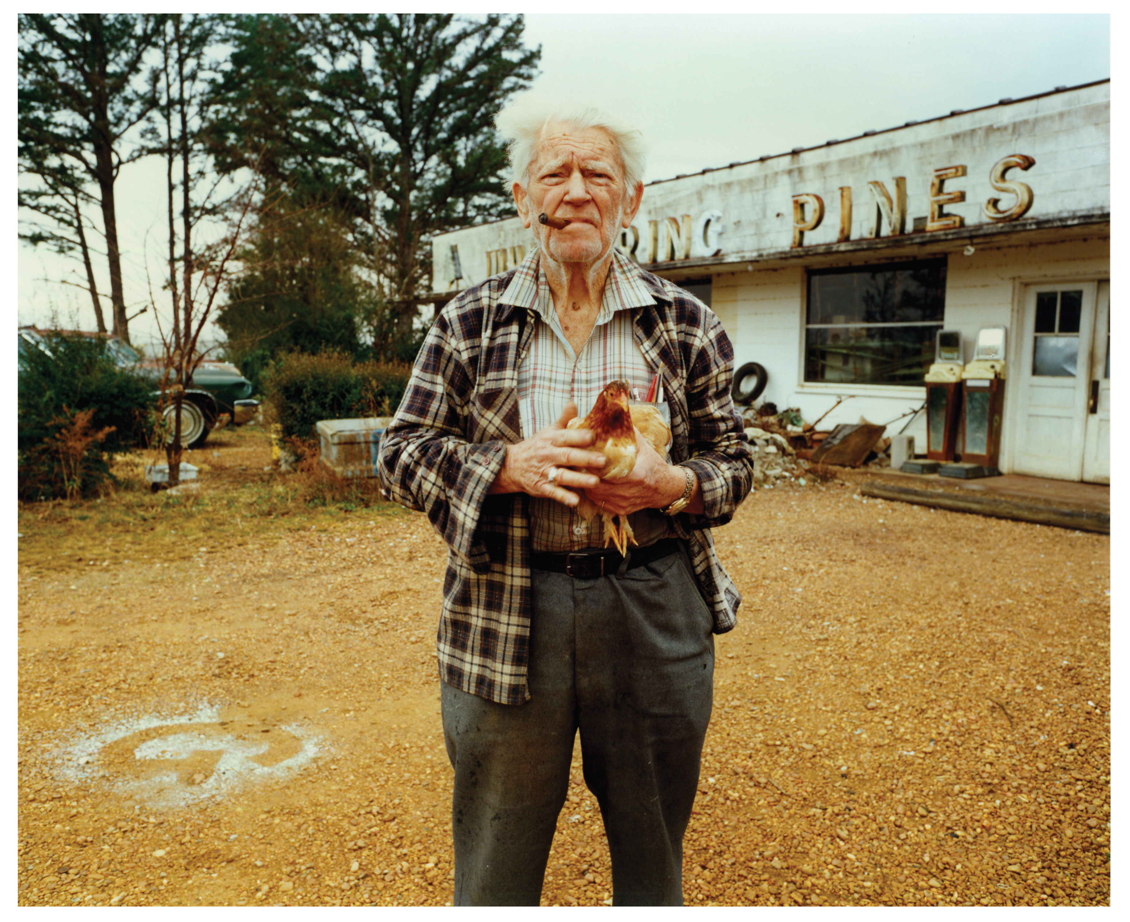 Blume with Chicken, January 1986, Lowndes County, Mississippi