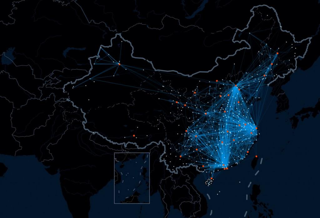 Baidu heat map China