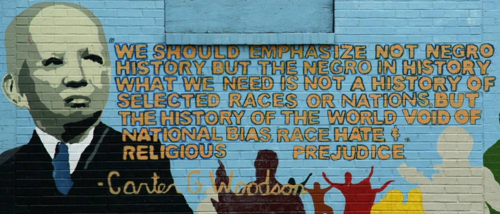 Carter G. Woodson Mural in Washington, D.C. Photo by Wikimedia Commons