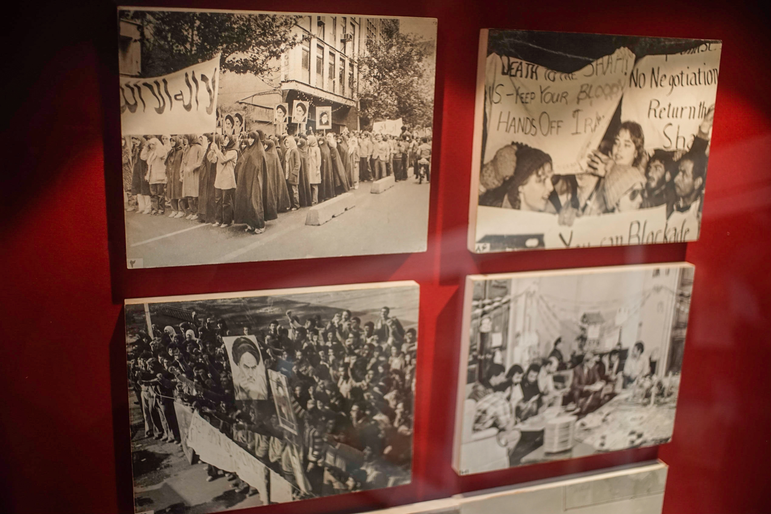 Interspersed throughout the museum are photos like these of Iranian Revolution rallies that took place before and during the hostage crisis.