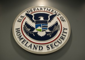 The logo of the Department of Homeland Security in Washington, D.C. Photo by Saul Loeb/AFP/Getty Images.