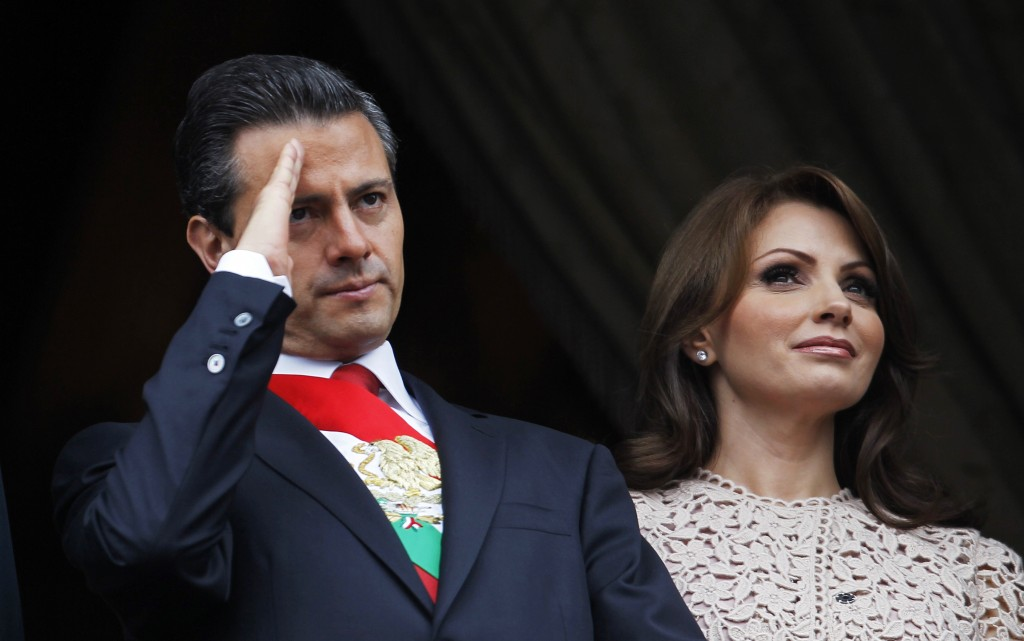 Mexico's President Enrique Pena Nieto and first lady Angelica Rivera have come under heat after the purchase of a lavish home from a businessman who has several contracts with the Mexican government. Photo by Edgard Garrido/Reuters
