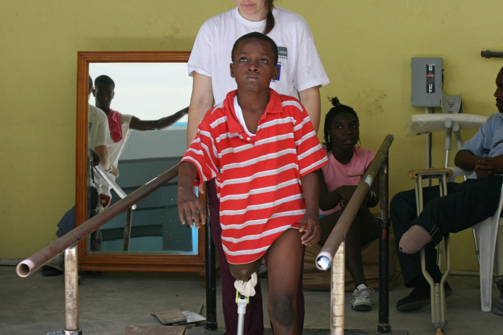People with amputated limbs face an extra tough challenge, as many return to rumble filled streets and camps.