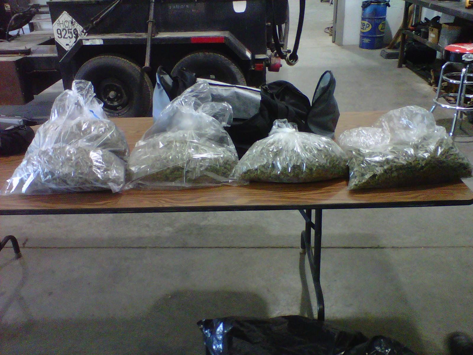 Illegal crossing: See the confiscated weed at the Colorado