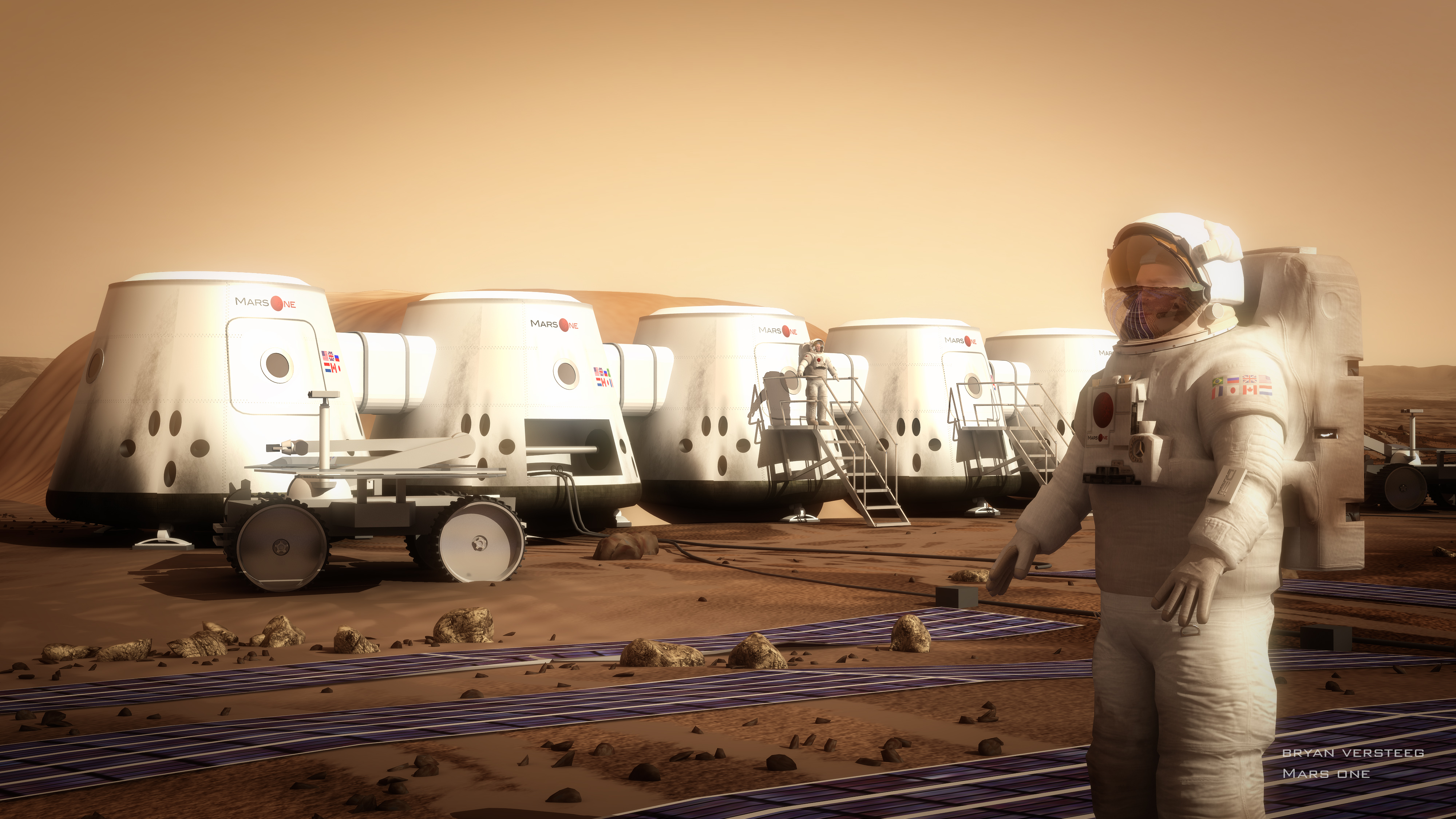 Mars One wants to establish the first human settlement on the Red Planet by 2025. Illustration by Bryan Versteeg via Mars One