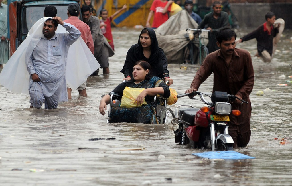 About 2 million people were forced to leave their homes in the 2010 floods. Photo by Arif Ali/AFP/Getty Images