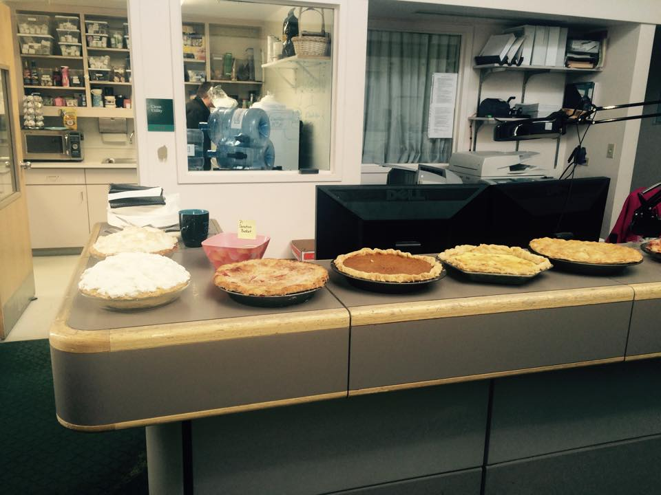 Facebook user Heather Armstrong shows us what At work Pi Day!!