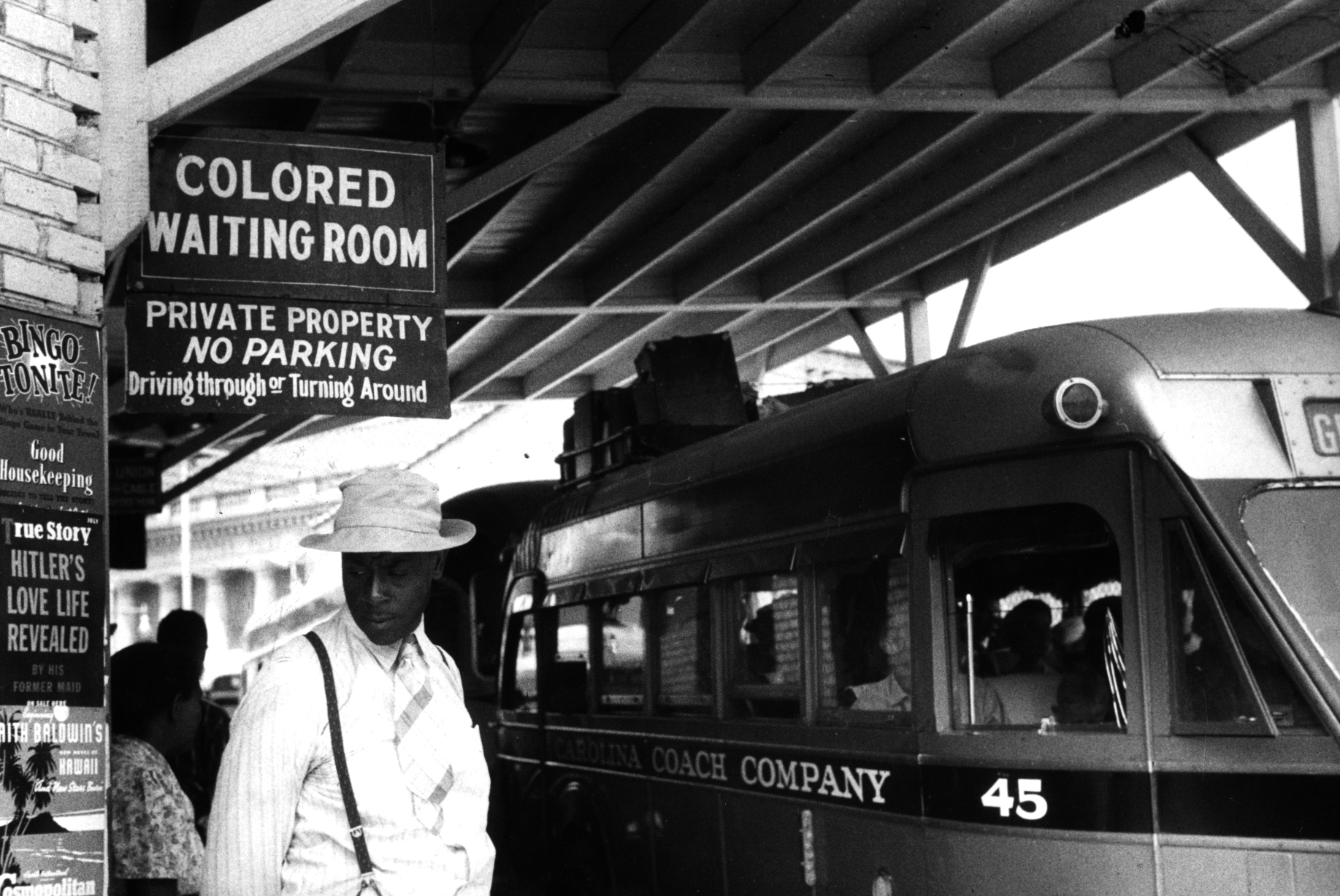 The bus station in Durham, North Carolina, in this May 1940 photograph courtesy of the Library of Congress. Photo by REUTERS/Library of Congress/Handout via Reuters.
