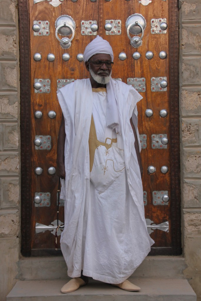 Abdrahamane Ben Essayouti, the Grand Imam of Timbuktu and the famous Djingareyber Mosque, witnessed the destruction of his hometown at the hand of the jihadists. Today he's thankful his city was rescued, but also concerned about its future as the jihadists continue to threaten the area. Photo by Molly Raskin.