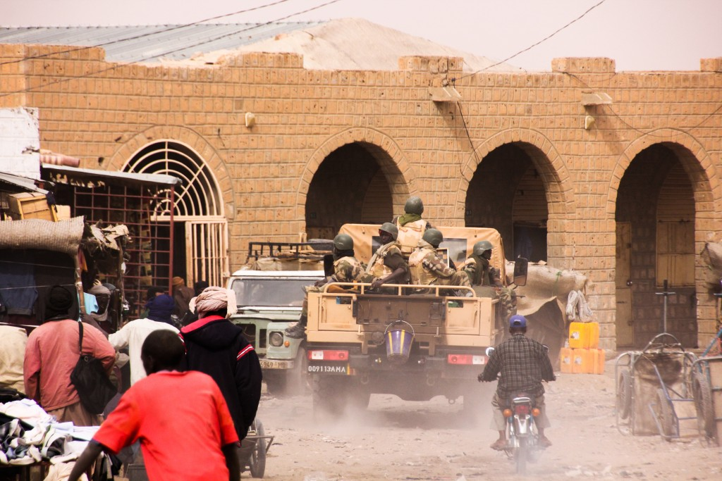 African peacekeeping troops have come under constant attack since they retook Timbuktu in 2013. Today, only certain parts of the city are considered safe, and Western travelers are cautioned not to visit the city until the violence abates. Photo by Molly Raskin