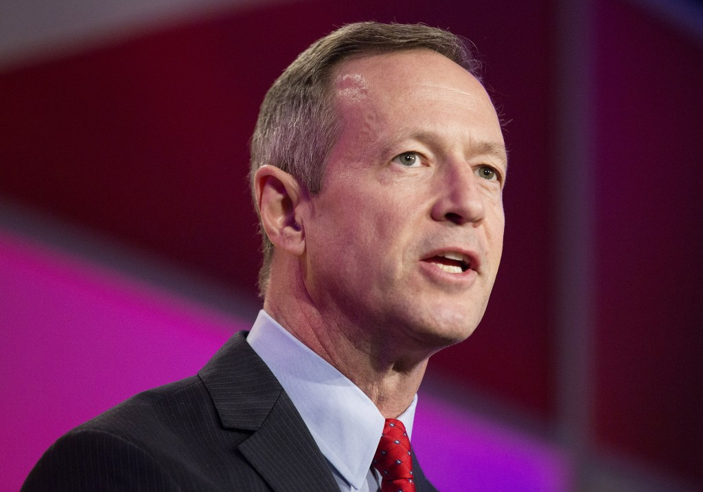 Former Maryland Governor Martin O'Malley (D) addresses the International Association of Firefighters delegates at IAFF Presidential Forum in Washington, March 10, 2015.      REUTERS/Joshua Roberts    (UNITED STATES - Tags: POLITICS ELECTIONS HEADSHOT) - RTR4SSRG