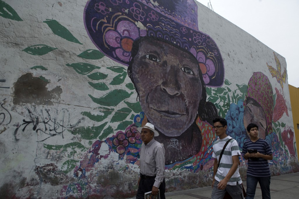A mural at Lampa street in Lima on Mar. 12, 2015. Credit: Mariana Bazo/REUTERS