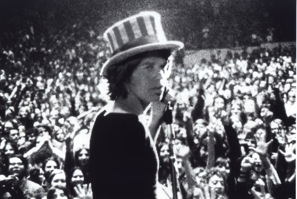 "Mick Jagger of the Rolling Stones is pictured in the 1970 documentary film ""Gimmie Shelter""  by  filmmakers David and Albert  Maysles."