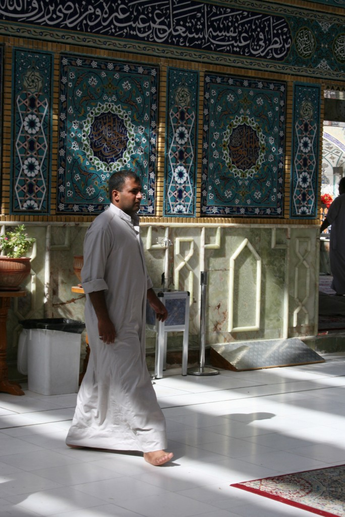 Elaborate Design Mosaics in green, blue and gold cover the interior and exterior of the shrine. Photo by Larisa Epatko