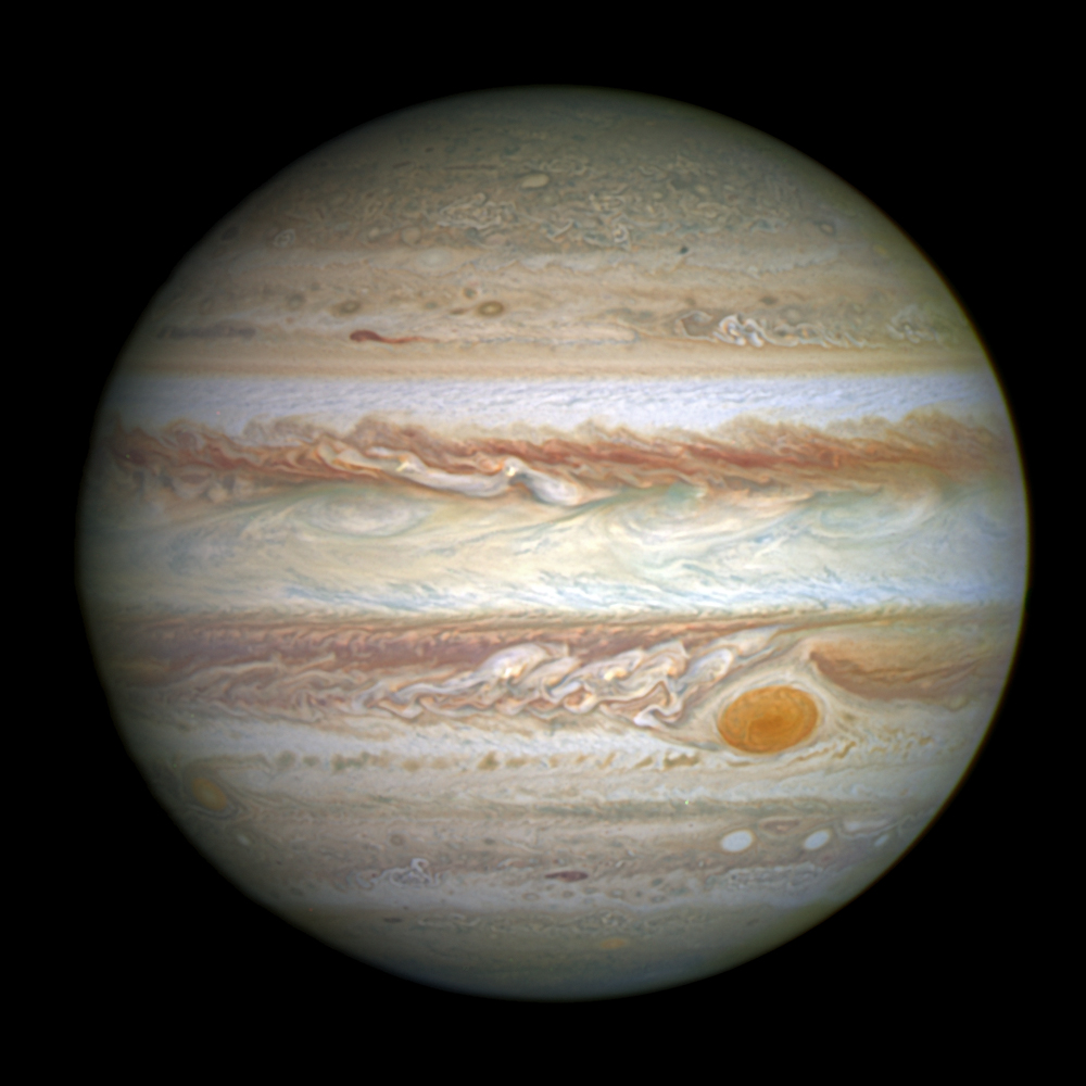 Jupiter, with its trademark Great Red Spot, photographed by Hubble on May 15, 2014. Photo by NASA, ESA and A. Simon (Goddard Space Flight Center)