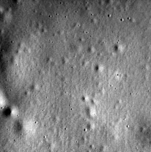 This image of Mercury's surface is the last one acquired and beamed back to Earth by to Earth by the Messenger spacecraft. NASA/Johns Hopkins University Applied Physics Laboratory/Carnegie Institution of Washington