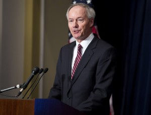 Arkansas Gov. Asa Hutchinson says he supports the bill the state legislature passed that bans most abortions after 18 weeks of pregnancy. Photo by Joshua Roberts/Reuters