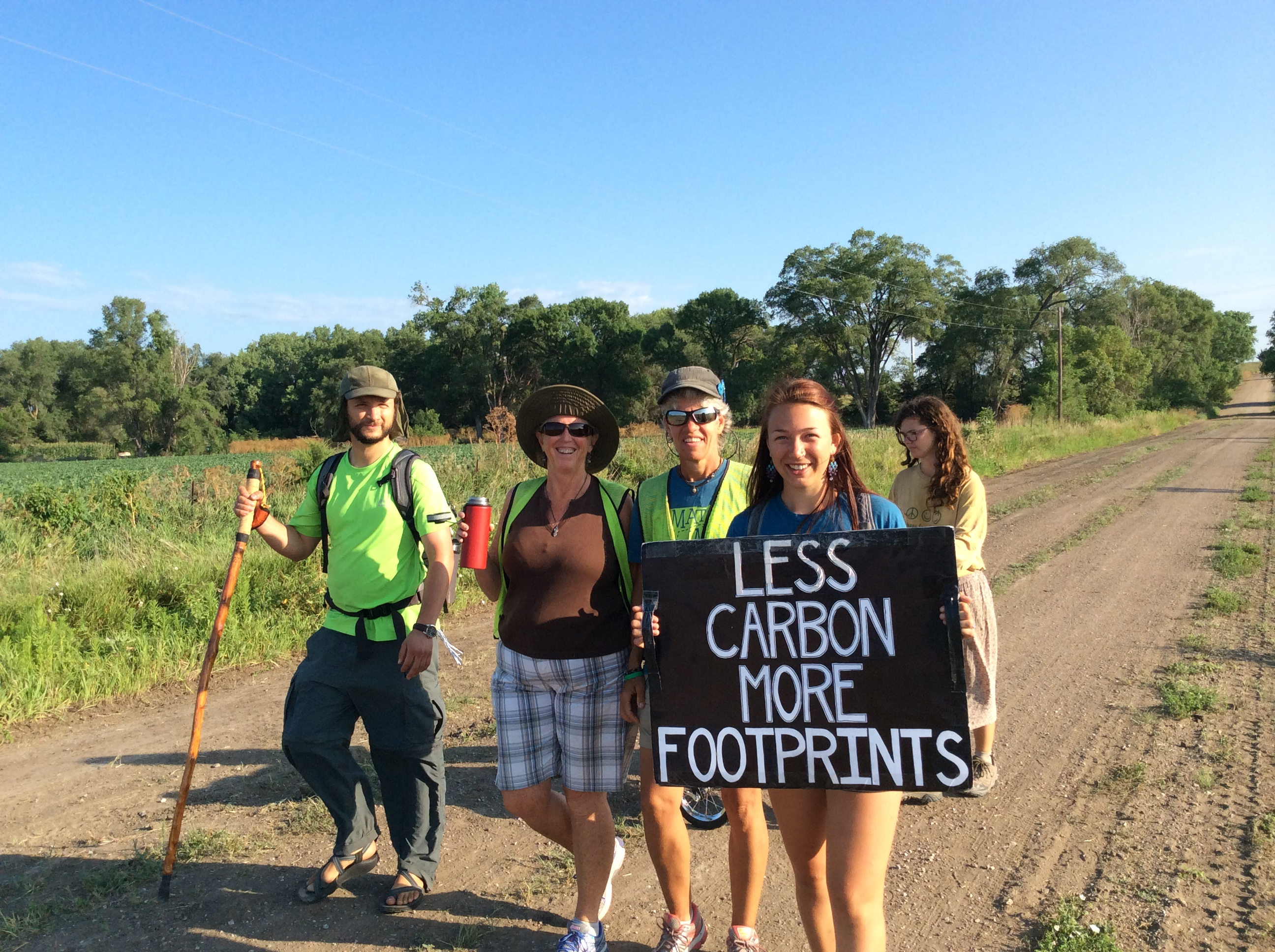 Juliana took part in a cross-country march for climate change awareness in 2014. Photo courtesy of Kelsey Juliana.