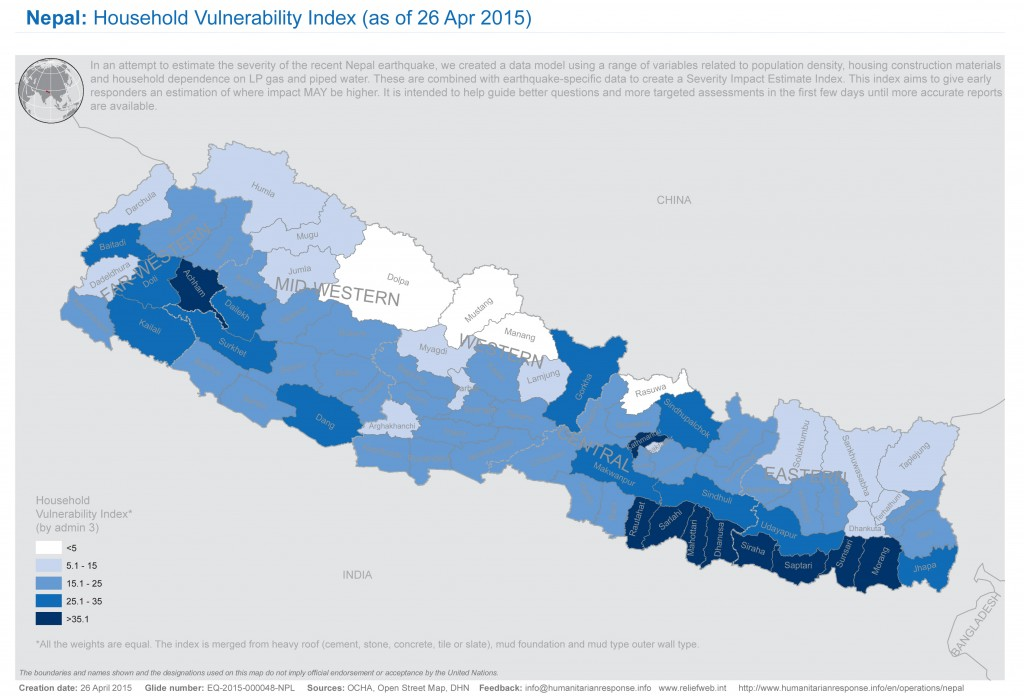 Nepal not prepared for intensity of earthquake geologist says pbs a map shows the vulnerability of households in nepal following the april 25 2015 gumiabroncs Choice Image