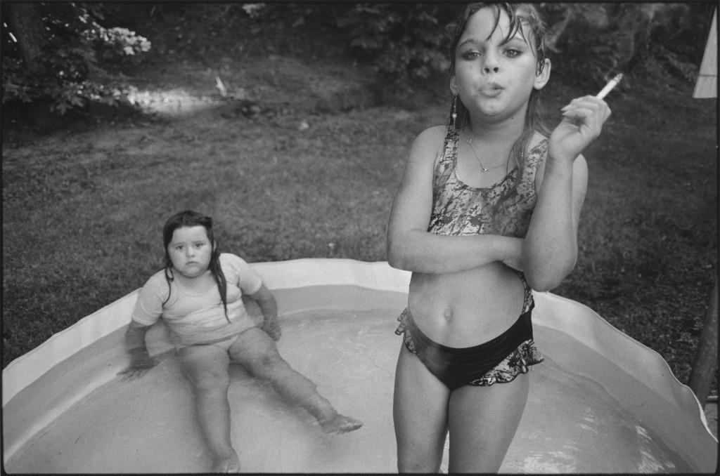 Amanda and her cousin Amy, Valdese, North Carolina, USA, 1990. Photo by Mary Ellen Mark