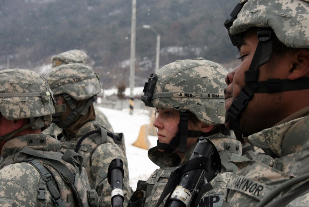 U.S. troops at Rodriguez Live Fire Complex in South Korea in January 2011. Photo by Larisa Epatko
