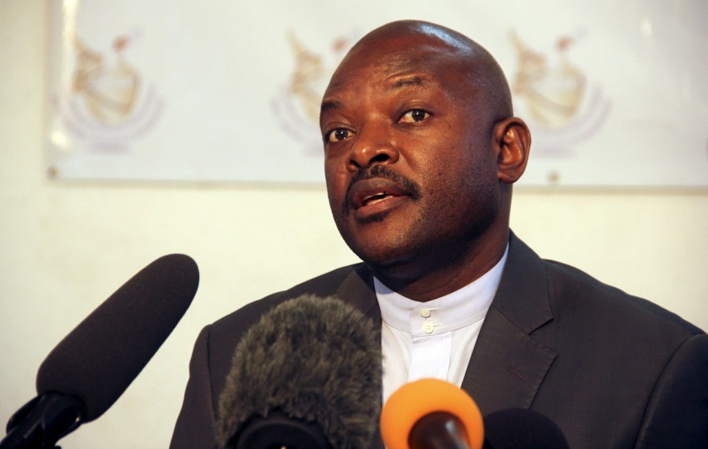 Burundian President Pierre Nkurunziza registered last week to run for a third term, in a move that stoked anger among protesters opposing his bid for another five years in office. Photo by Jean Pierre Aime Harerimana/Reuters
