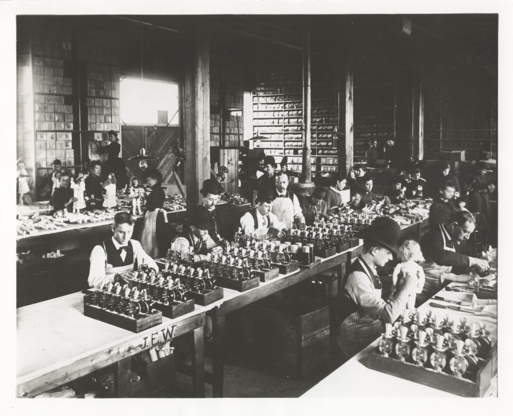 Manufacture of Edison Talking Dolls took place at the Edison Phonograph Works, near the Edison Laboratory, in West Orange, New Jersey. Photo courtesy of National Park Service