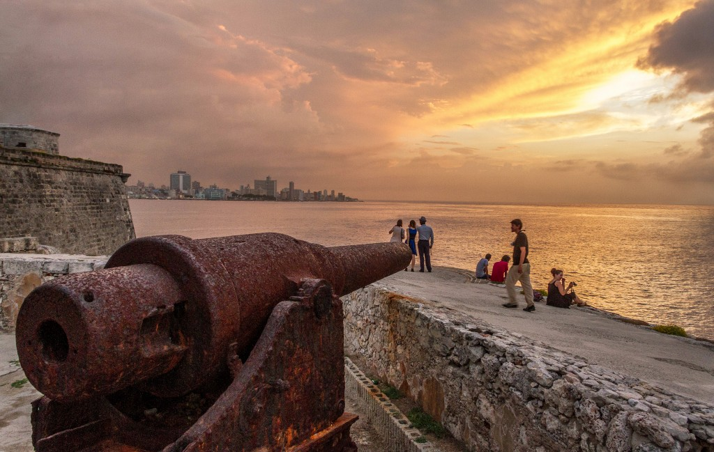 On the eastern end of the Malecon sits the Morro Castle, a fortress built the late 16th century to protect Havana from would-be invaders. And just behind its lighthouse, frame by rusted cannons, is a quiet spot to take in the sunset. It's a great view of the Malecon at any time, but on the evening we visited, the departing storm made for a colorful end. Photo by Frank Carlson