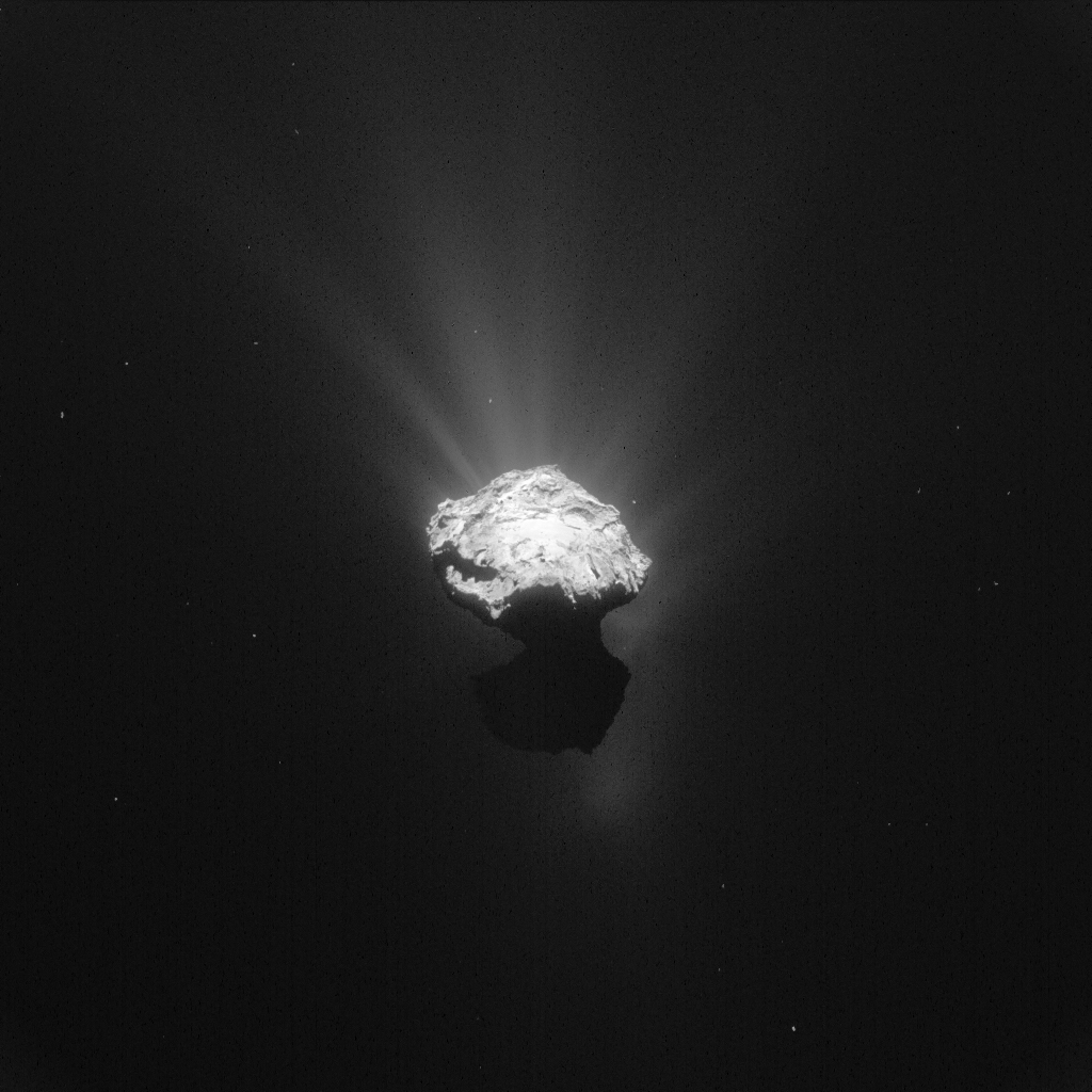 The latest public photo of Comet 67P/Churyumov-Gerasimenko  taken on June 7, 2015 from a distance of 126 miles from the comet center Photo by European Space Agency/Max Planck Institute for Solar System Research.