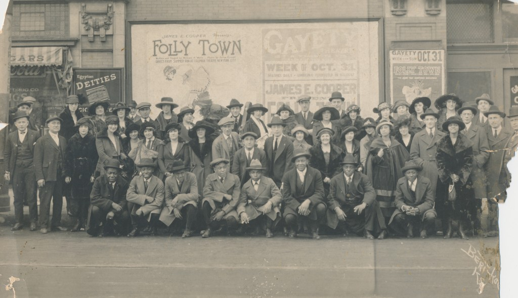 "A cast photo of a 1920 mixed race show called ""Folly Town"" in New York.  Photo courtesy of BurlyQNell the Janelle Smith collection."