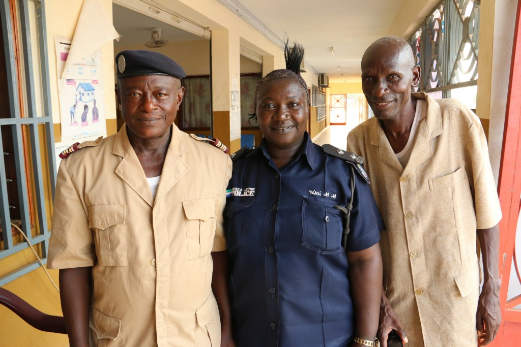 Miles captured this photo at the border of Guinea and Sierra Leone  with the heads of immigration for both countries. Photo by Miles O'Brien