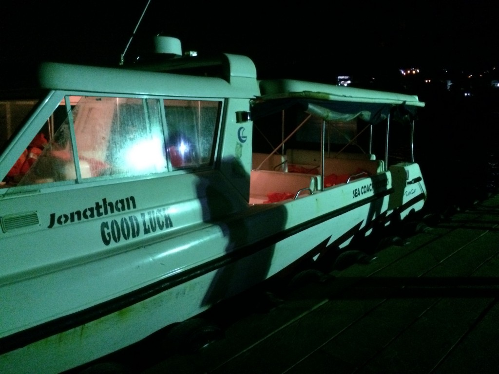The NewsHour team took this boat from the airport to the capital city. Photo by Miles O'Brien