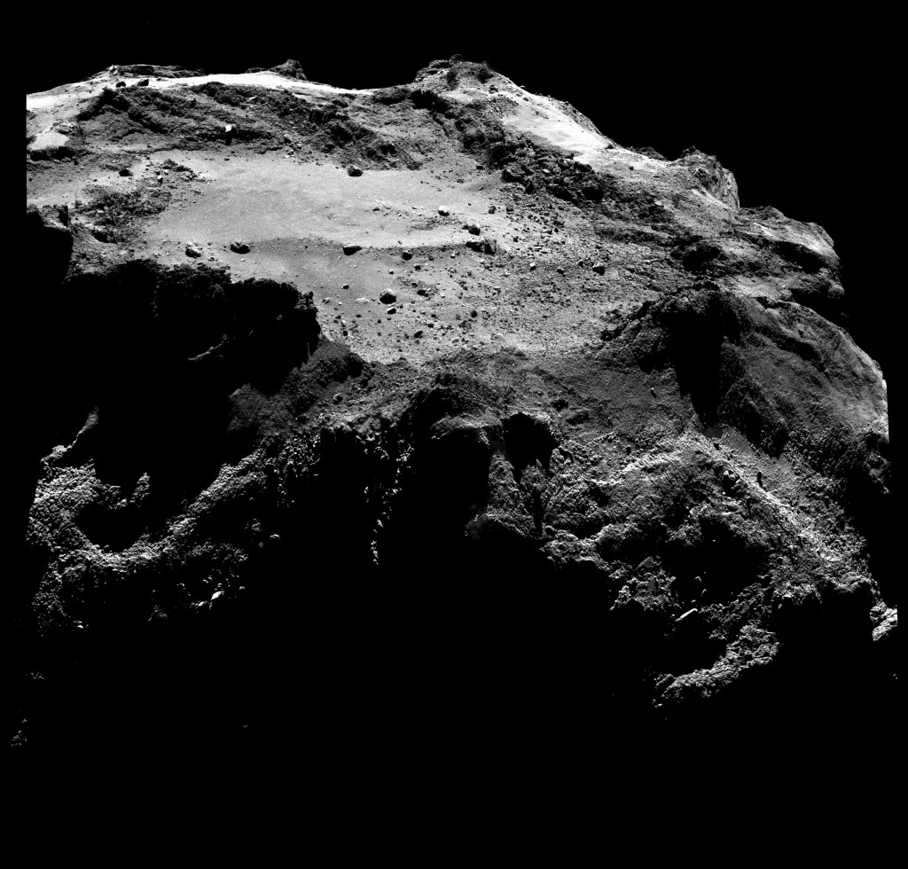 Rosetta sails 11 miles from the surface of 67P comet in search for the Philae lander on December 13, 2014. Photo by European Space Agency/Max Planck Institute for Solar System Research.