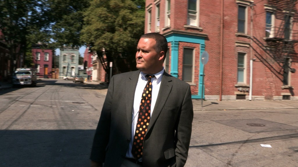 Craig Hockenberry makes his rounds in Lower Price Hill. Photo by Glenn Hartong