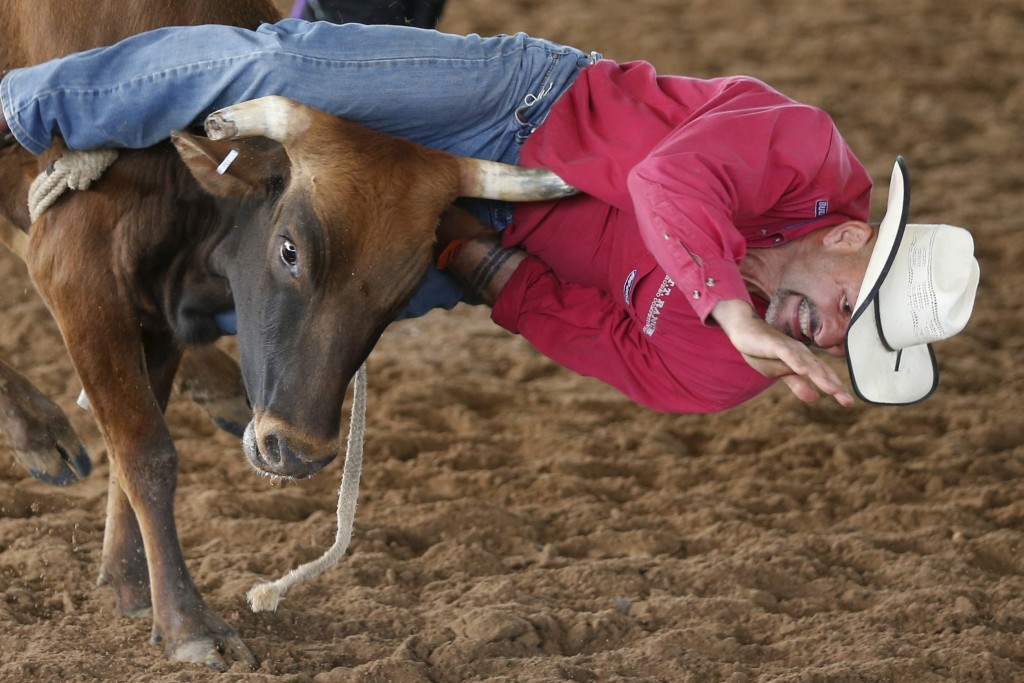 Todd Tramp, 51, competes at the International Gay Rodeo Association's Rodeo In the Rock in Little Rock, Arkansas, April 25, 2015. Photo by Lucy Nicholson/Reuters